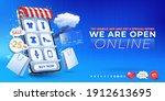 mobile shopping app. online... | Shutterstock .eps vector #1912613695