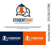 student chat vector logo... | Shutterstock .eps vector #1912615288