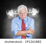 closeup portrait angry senior... | Shutterstock . vector #191261882