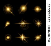 glowing lights and stars.... | Shutterstock .eps vector #1912632292