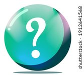 cartoon question mark button...