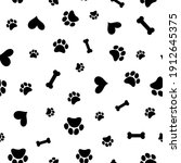 seamless pattern with hearts...   Shutterstock .eps vector #1912645375