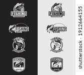 fishing logo design vector... | Shutterstock .eps vector #1912664155