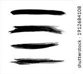 art black ink abstract brush...   Shutterstock .eps vector #1912684108