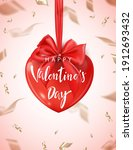 valentine's day poster with red ...   Shutterstock .eps vector #1912693432