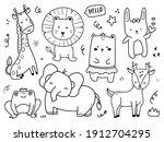 set of cute wild animal...   Shutterstock .eps vector #1912704295