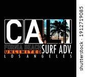 california beach destination...   Shutterstock .eps vector #1912719085