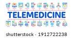 telemedicine treatment minimal...   Shutterstock .eps vector #1912722238