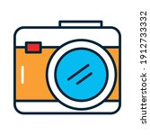photographic camera icon over... | Shutterstock .eps vector #1912733332