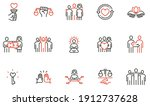 vector set of linear icons... | Shutterstock .eps vector #1912737628