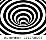 striped crater on white... | Shutterstock .eps vector #1912738078