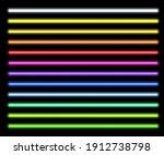 neon light tubes set on... | Shutterstock .eps vector #1912738798