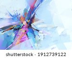 abstract multicolor painting... | Shutterstock . vector #1912739122