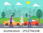 accident vector concept  two...   Shutterstock .eps vector #1912746148