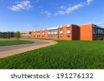 modern school building with lawn | Shutterstock . vector #191276132
