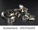 Various metal clamps for hose...
