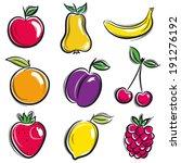 set of fruits  fruit  apple... | Shutterstock .eps vector #191276192