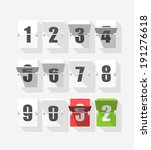 counter with digits set. flat... | Shutterstock .eps vector #191276618