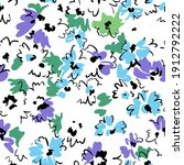 spring floral seamless pattern. ... | Shutterstock .eps vector #1912792222
