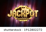 shining sign jackpot with... | Shutterstock .eps vector #1912802272
