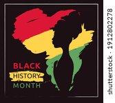 black history month    poster.... | Shutterstock .eps vector #1912802278