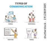 types of verbal  nonverbal ... | Shutterstock .eps vector #1912809385