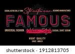 famous  street wear casual... | Shutterstock .eps vector #1912813705
