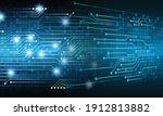 blue cyber circuit future...   Shutterstock .eps vector #1912813882