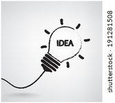 creative light bulb idea... | Shutterstock .eps vector #191281508
