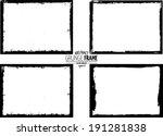 grunge frame. vector template | Shutterstock .eps vector #191281838