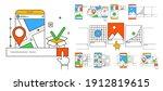 set of icons in modern outline...   Shutterstock .eps vector #1912819615