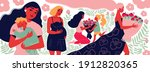 mothers day composition of... | Shutterstock .eps vector #1912820365
