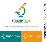 student laboratory vector logo... | Shutterstock .eps vector #1912822828