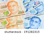singapore dollars note | Shutterstock . vector #191282315