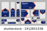 set of abstract web banner... | Shutterstock .eps vector #1912851538