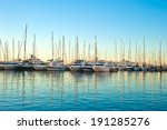 yachts at marina in majorca