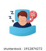 apnea color flat. sleep... | Shutterstock .eps vector #1912874272