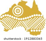 map of australia with an...   Shutterstock .eps vector #1912883365