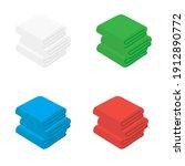 set of towel raster...   Shutterstock . vector #1912890772