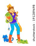 lady cat lover buying cat's...   Shutterstock .eps vector #191289698