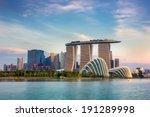 Landscape Of The Singapore...