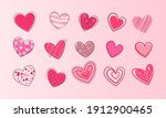 hearts doodles collection....   Shutterstock .eps vector #1912900465