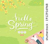 spring sale template with... | Shutterstock .eps vector #1912916968
