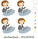 woman who operation of the... | Shutterstock .eps vector #191292935