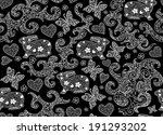 beautiful vector seamless... | Shutterstock .eps vector #191293202