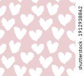 Pink Heart Shaped Brush Stroke...