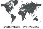 world map color vector modern.... | Shutterstock .eps vector #1912939852
