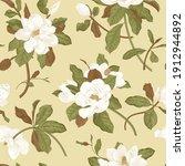 magnolia grandiflora. floral... | Shutterstock .eps vector #1912944892