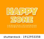 vector bright sign happy zone.... | Shutterstock .eps vector #1912953358