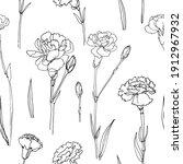 pattern flowers vector line... | Shutterstock .eps vector #1912967932